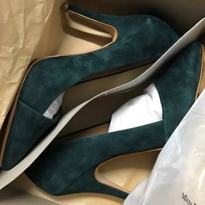 Madewell Mira Heel in Emerald